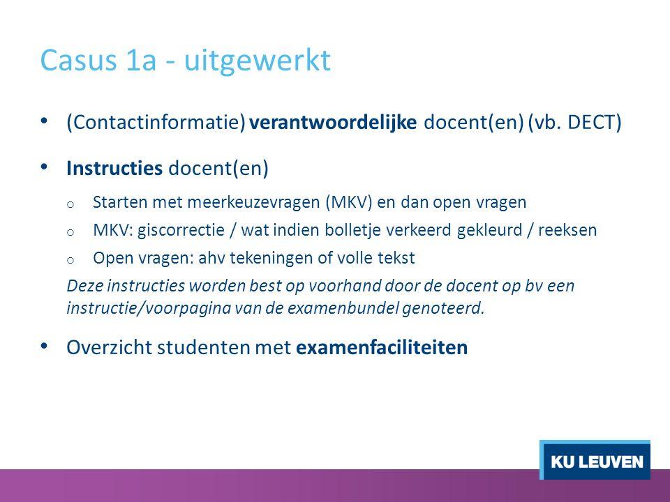 Casus 1a - uitgewerkt (Contactinformatie) verantwoordelijke docent(en) (vb.