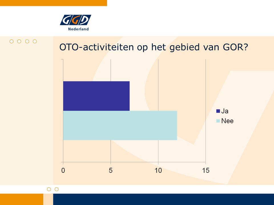 OTO-activiteiten op het gebied van GOR?