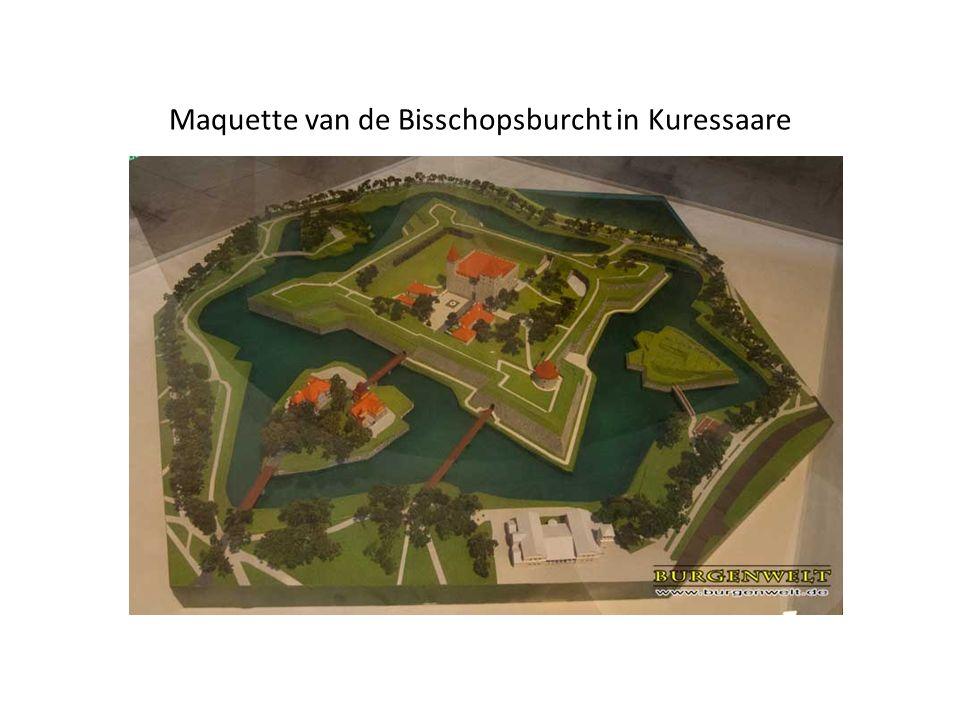 Maquette van de Bisschopsburcht in Kuressaare