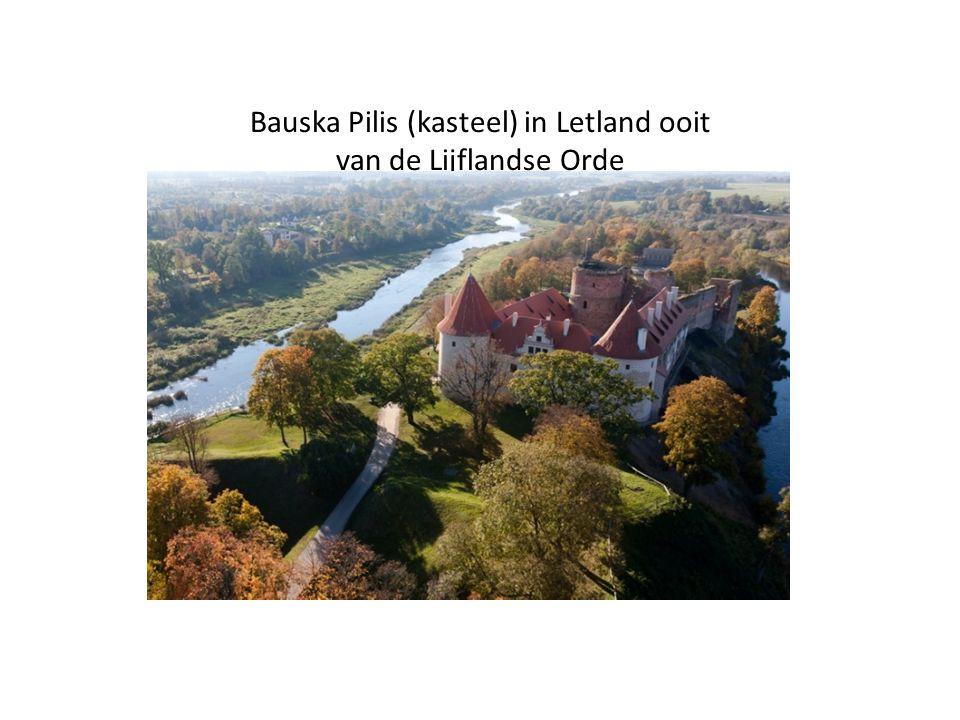 Bauska Pilis (kasteel) in Letland ooit van de Lijflandse Orde