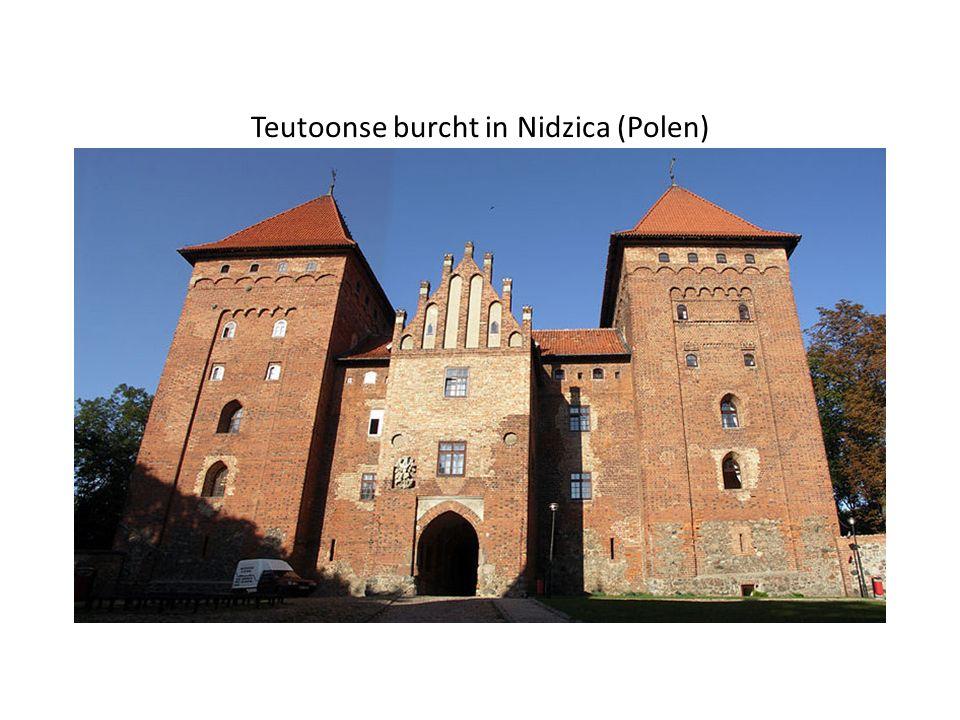 Teutoonse burcht in Nidzica (Polen)