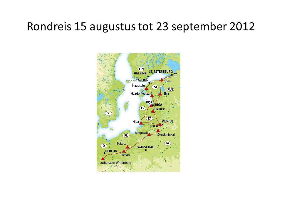 Rondreis 15 augustus tot 23 september 2012