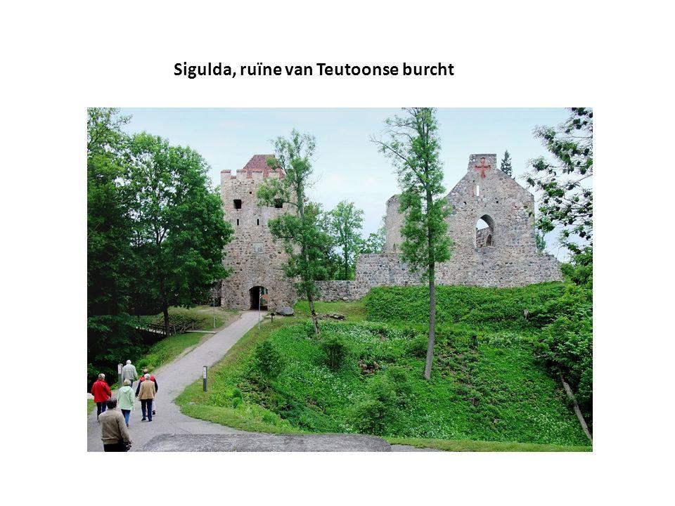Sigulda, ruïne van Teutoonse burcht
