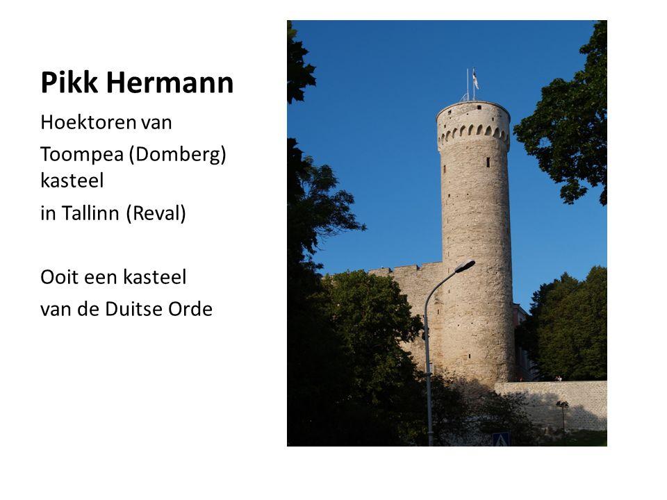 Pikk Hermann Hoektoren van Toompea (Domberg) kasteel in Tallinn (Reval) Ooit een kasteel van de Duitse Orde