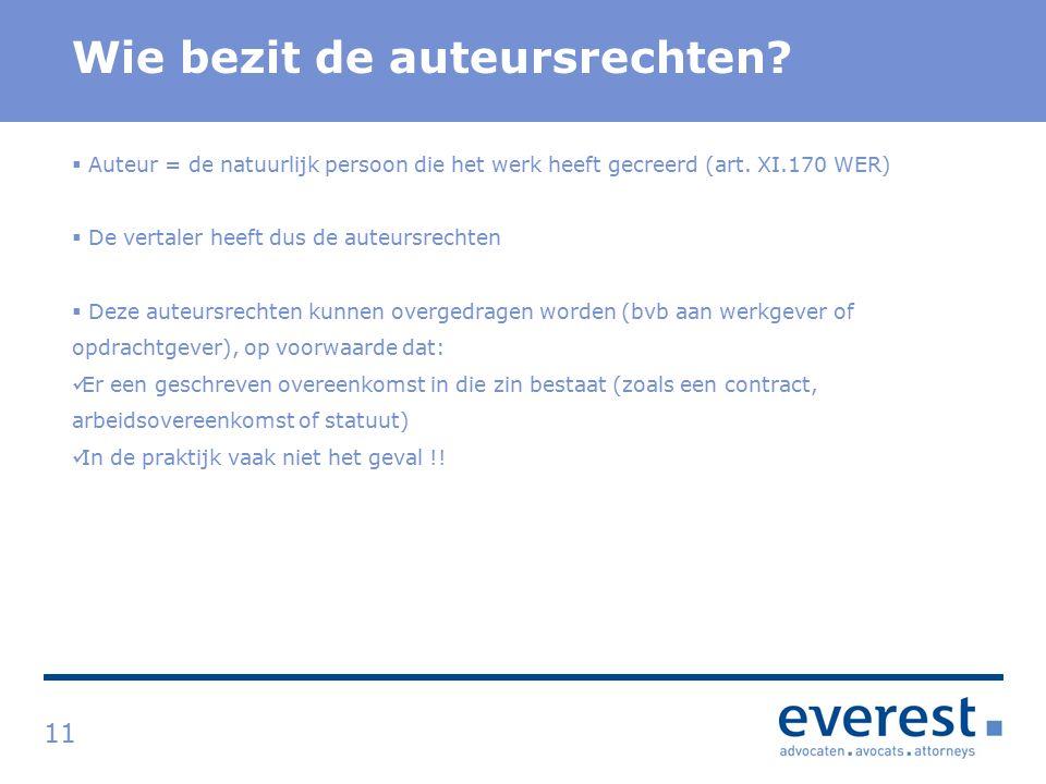 Titel Wie bezit de auteursrechten.
