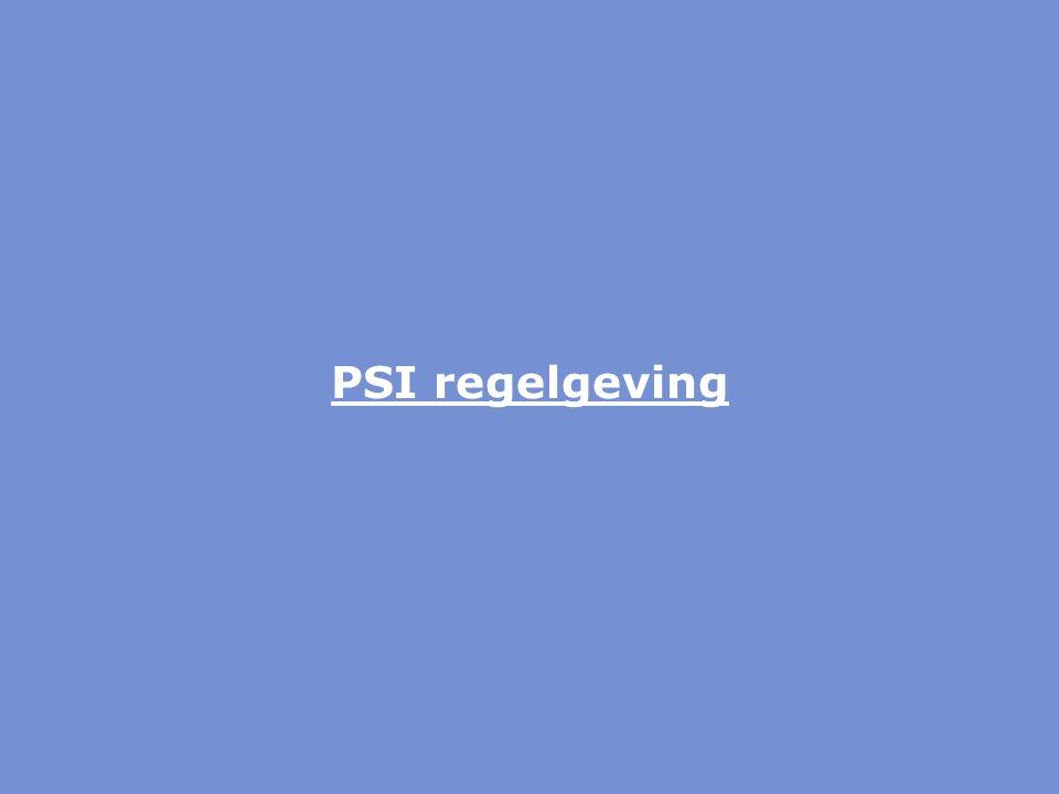 PSI regelgeving