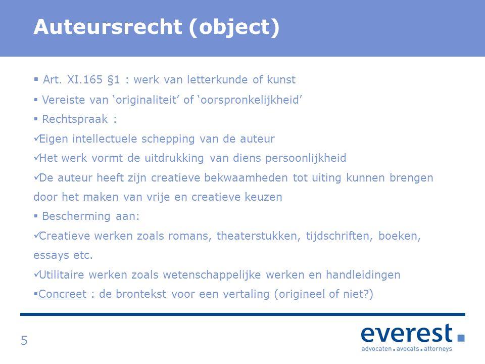 Titel Auteursrecht (object) 5  Art.