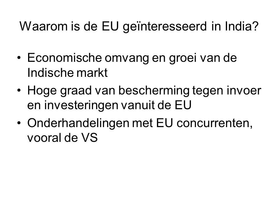 Waarom is de EU geïnteresseerd in India.