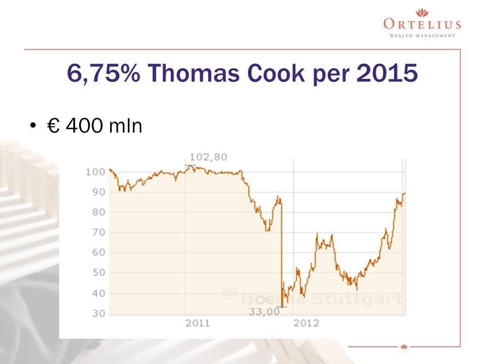€ 400 mln 6,75% Thomas Cook per 2015