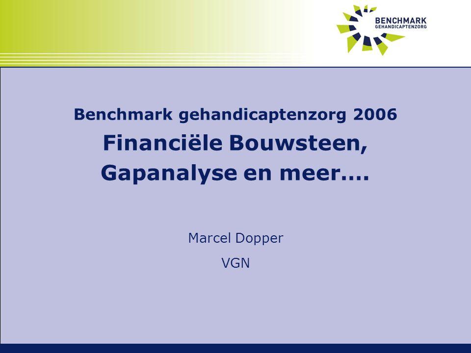 Benchmark gehandicaptenzorg 2006 Financiële Bouwsteen, Gapanalyse en meer…. Marcel Dopper VGN