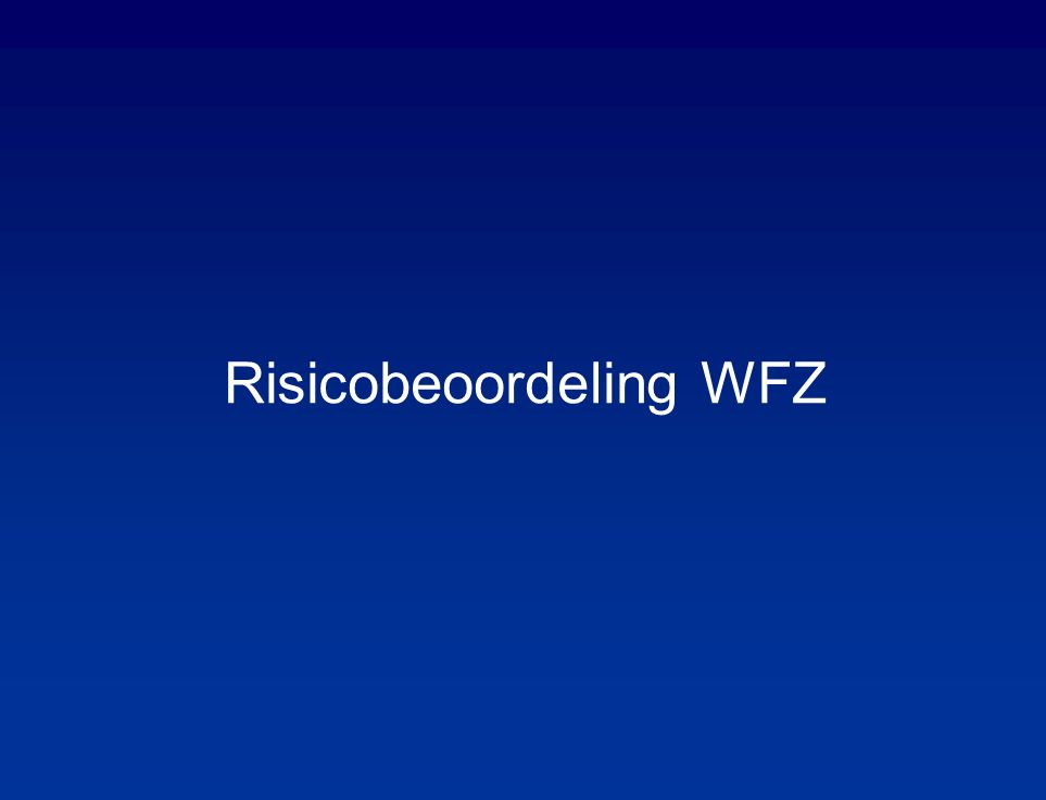 Risicobeoordeling WFZ