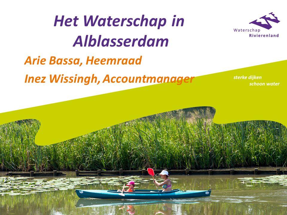 Het Waterschap in Alblasserdam Arie Bassa, Heemraad Inez Wissingh, Accountmanager