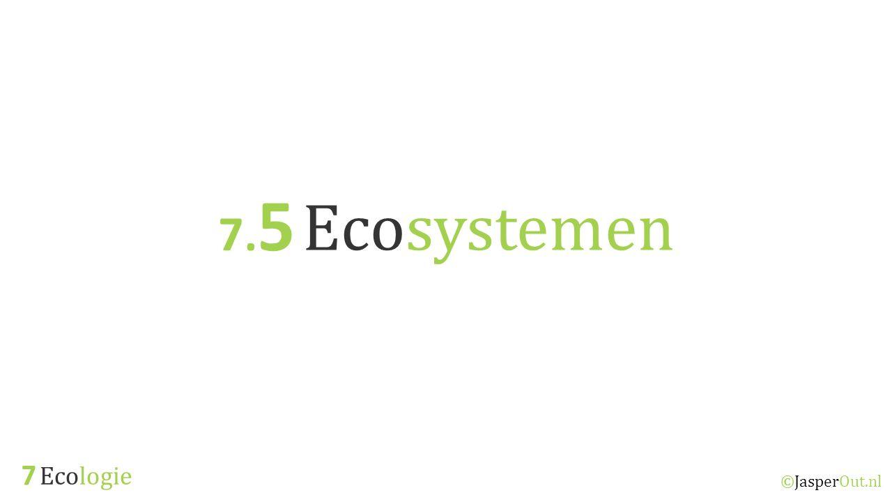 Ecologie 7 ©JasperOut.nl Ecosystemen 7. 5