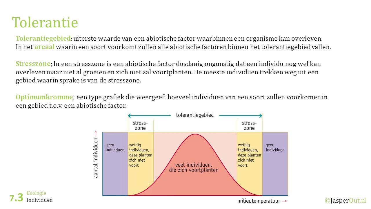 Ecologie 7.3 ©JasperOut.nl Individuen Bodemgesteldheid Een van de abiotische factoren die van invloed is op het overleven van organisme is de bodemgesteldheid.