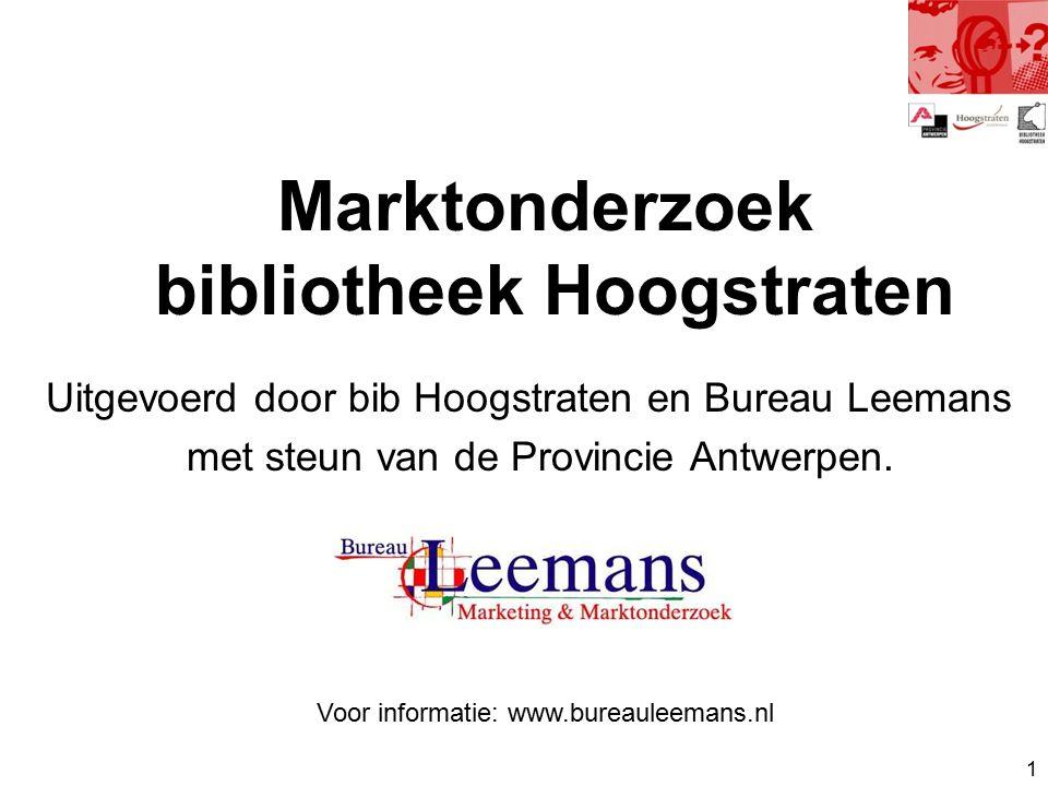1 Uitgevoerd door bib Hoogstraten en Bureau Leemans met steun van de Provincie Antwerpen.
