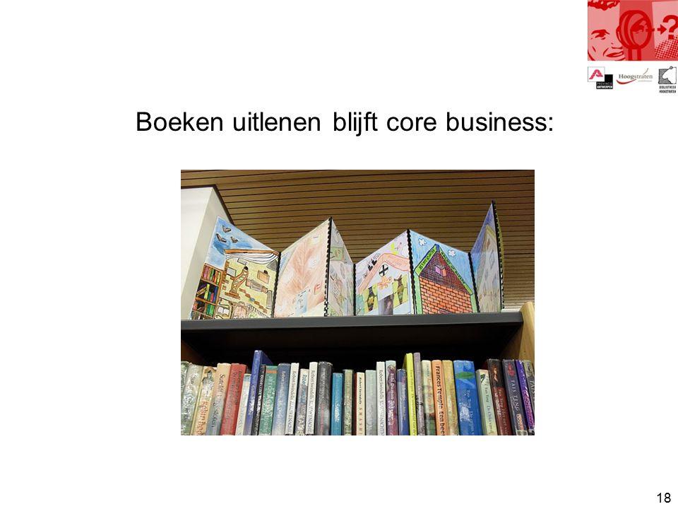 18 Boeken uitlenen blijft core business: