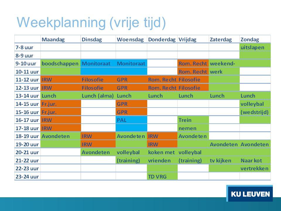 Weekplanning (vrije tijd)