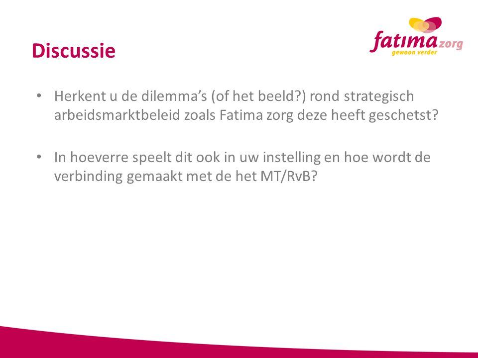 Discussie Herkent u de dilemma's (of het beeld?) rond strategisch arbeidsmarktbeleid zoals Fatima zorg deze heeft geschetst? In hoeverre speelt dit oo