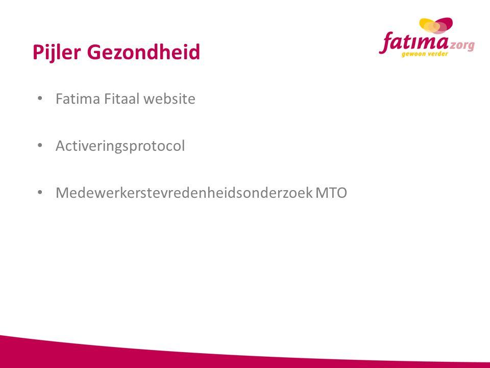Pijler Gezondheid Fatima Fitaal website Activeringsprotocol Medewerkerstevredenheidsonderzoek MTO