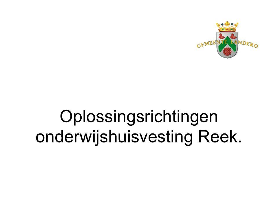 Oplossingsrichtingen onderwijshuisvesting Reek.