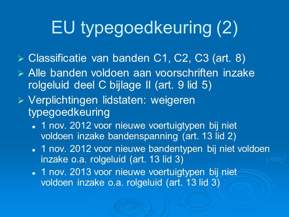 EU typegoedkeuring (2)   Classificatie van banden C1, C2, C3 (art.
