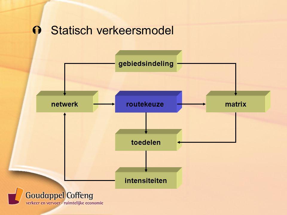  Statisch verkeersmodel netwerkmatrix gebiedsindeling intensiteiten routekeuze toedelen