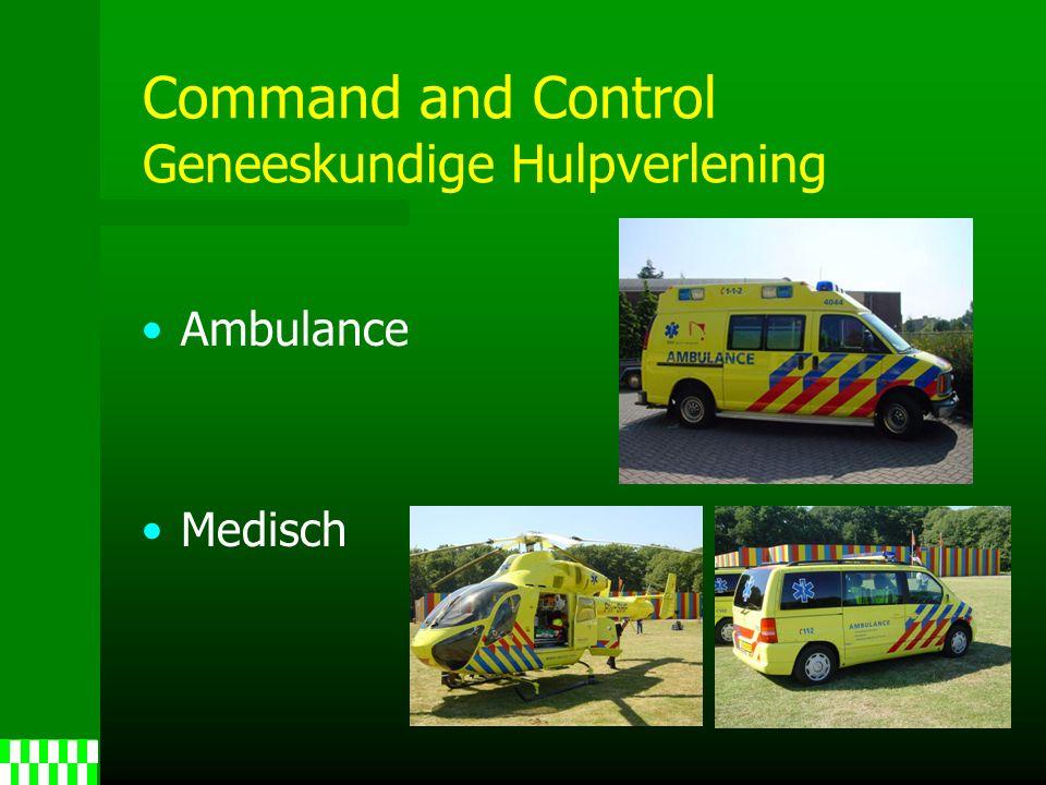 Command and Control Geneeskundige Hulpverlening Ambulance Medisch