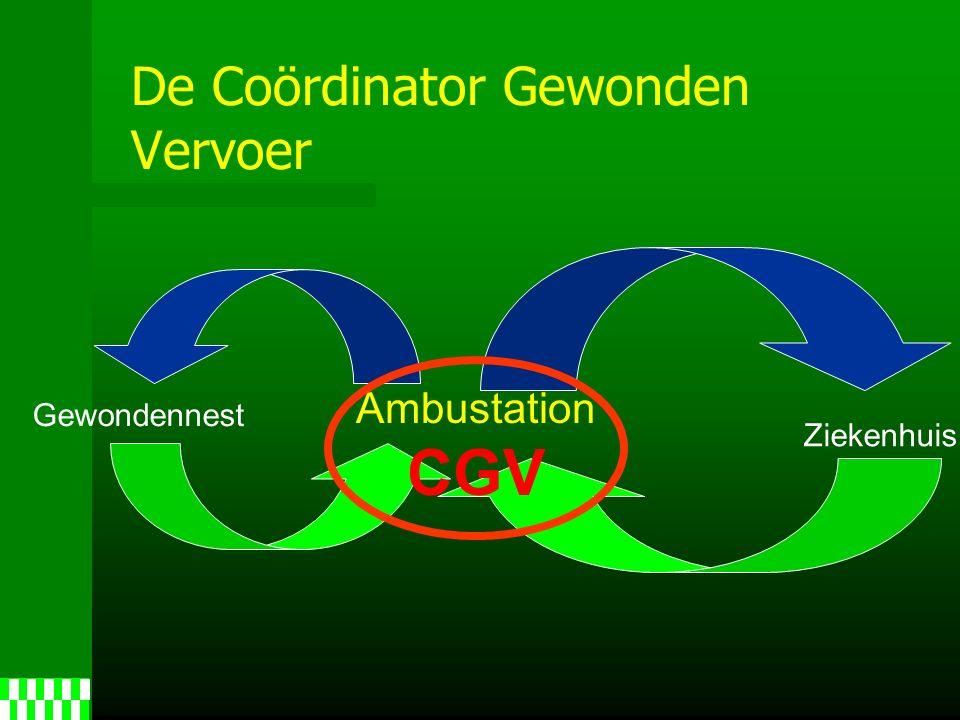 De Coördinator Gewonden Vervoer Ambustation CGV Gewondennest Ziekenhuis