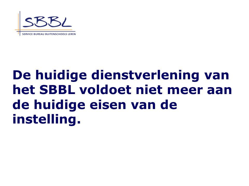 De huidige dienstverlening van het SBBL voldoet niet meer aan de huidige eisen van de instelling.