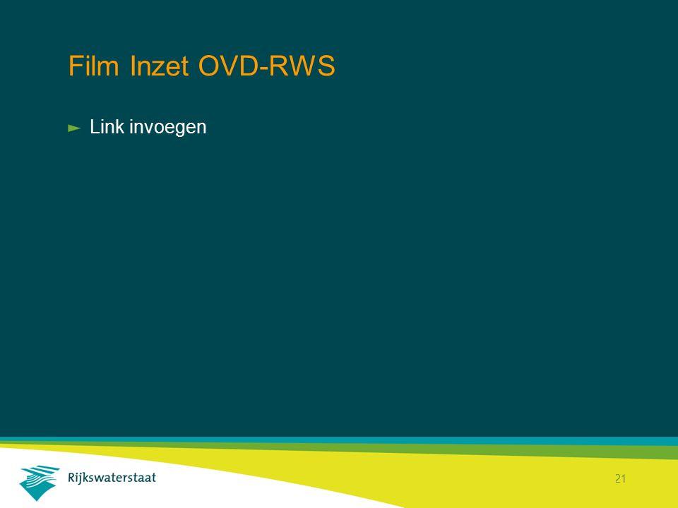 Rijkswaterstaat Corporate Dienst 21 Film Inzet OVD-RWS Link invoegen