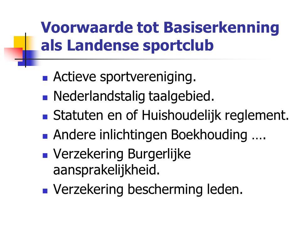 Is de sportvereniging aangesloten bij een erkende Vlaamse sportfederatie.