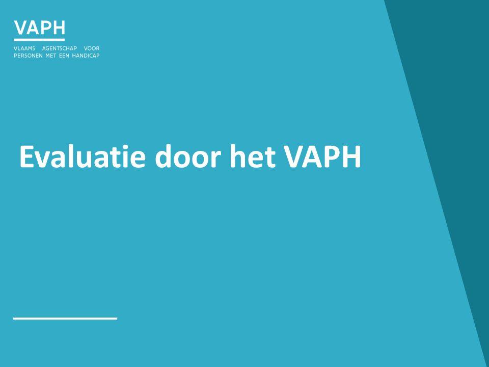 Evaluatie door het VAPH