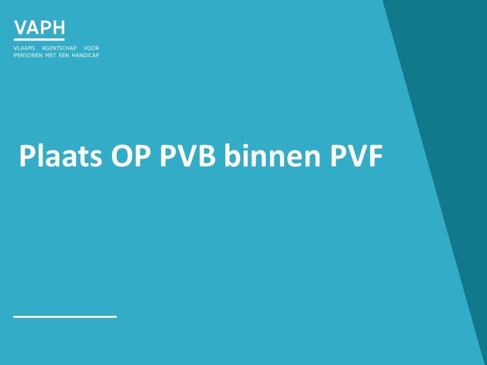 Plaats OP PVB binnen PVF
