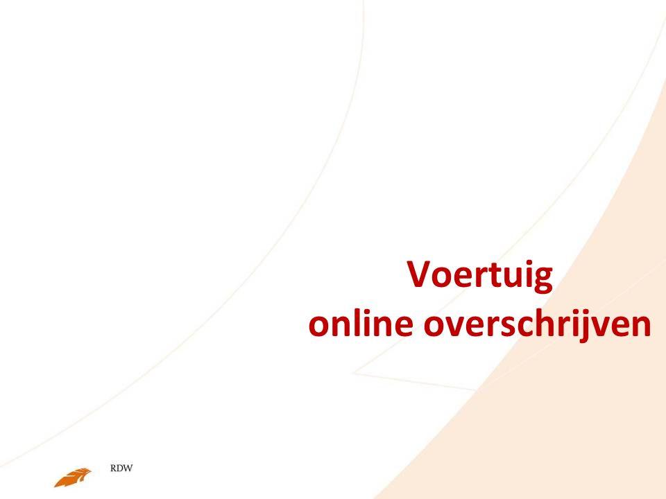 Voertuig online overschrijven