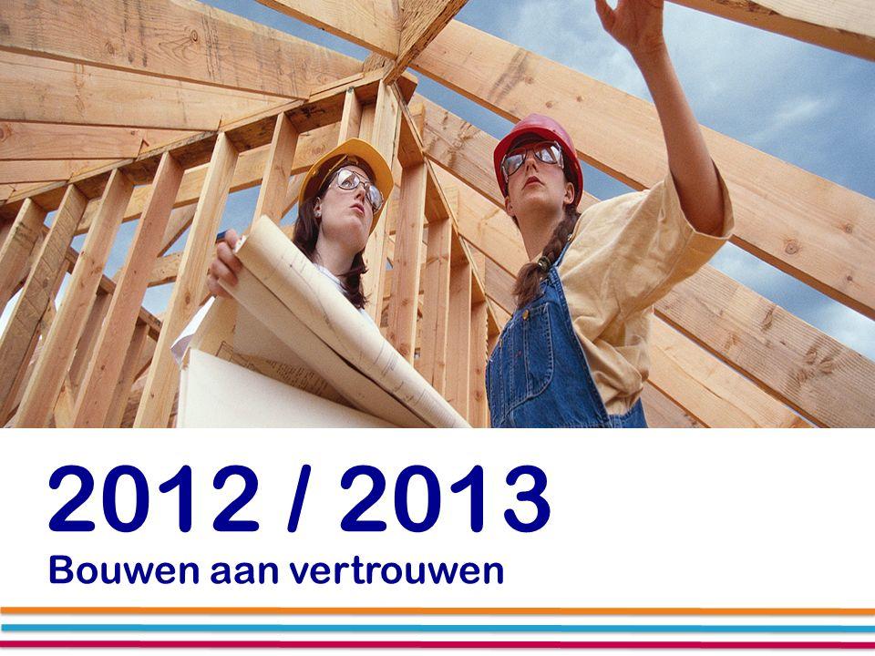 2012 / 2013 Bouwen aan vertrouwen