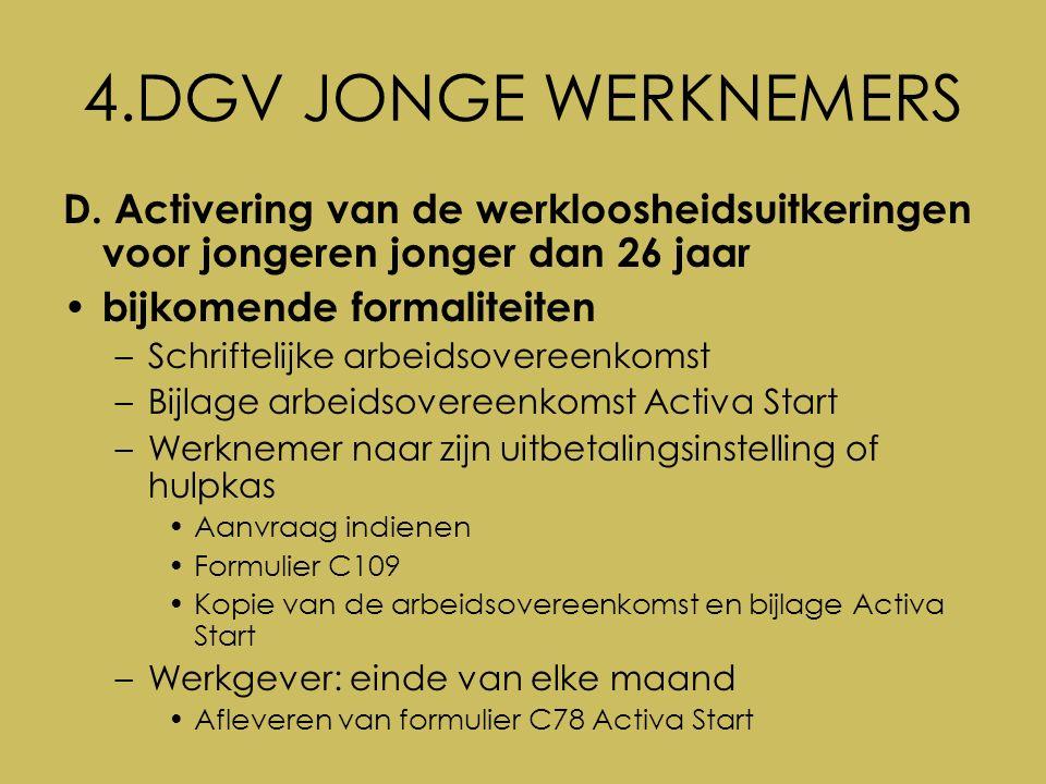 4.DGV JONGE WERKNEMERS D.