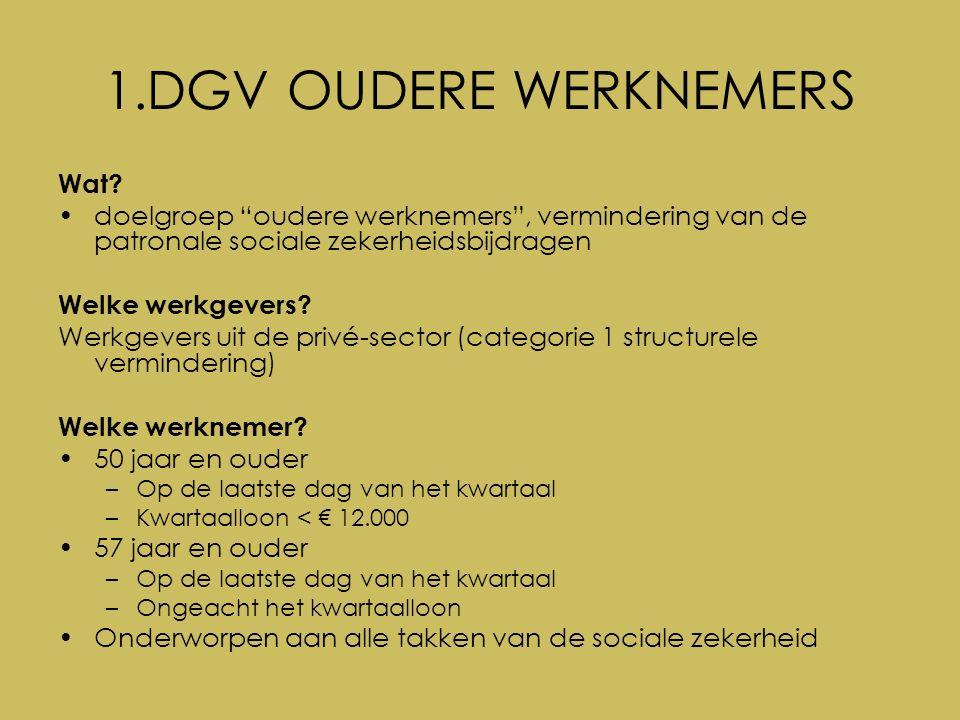 Vlaamse ondersteuningspremie (VOP) voor werkgevers De toekenning van de premie wordt beperkt tot 5 jaar.