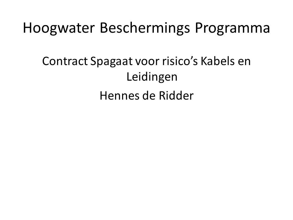 Hoogwater Beschermings Programma Contract Spagaat voor risico's Kabels en Leidingen Hennes de Ridder