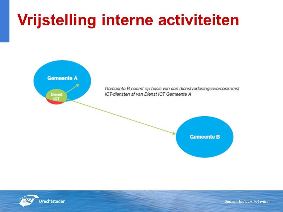 Vrijstelling interne activiteiten
