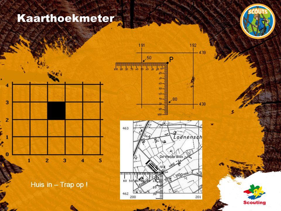 Kaarthoekmeter Huis in – Trap op !