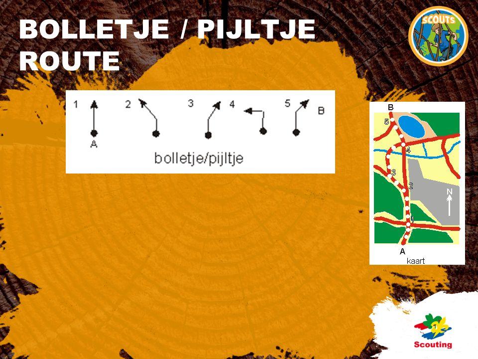 BOLLETJE / PIJLTJE ROUTE