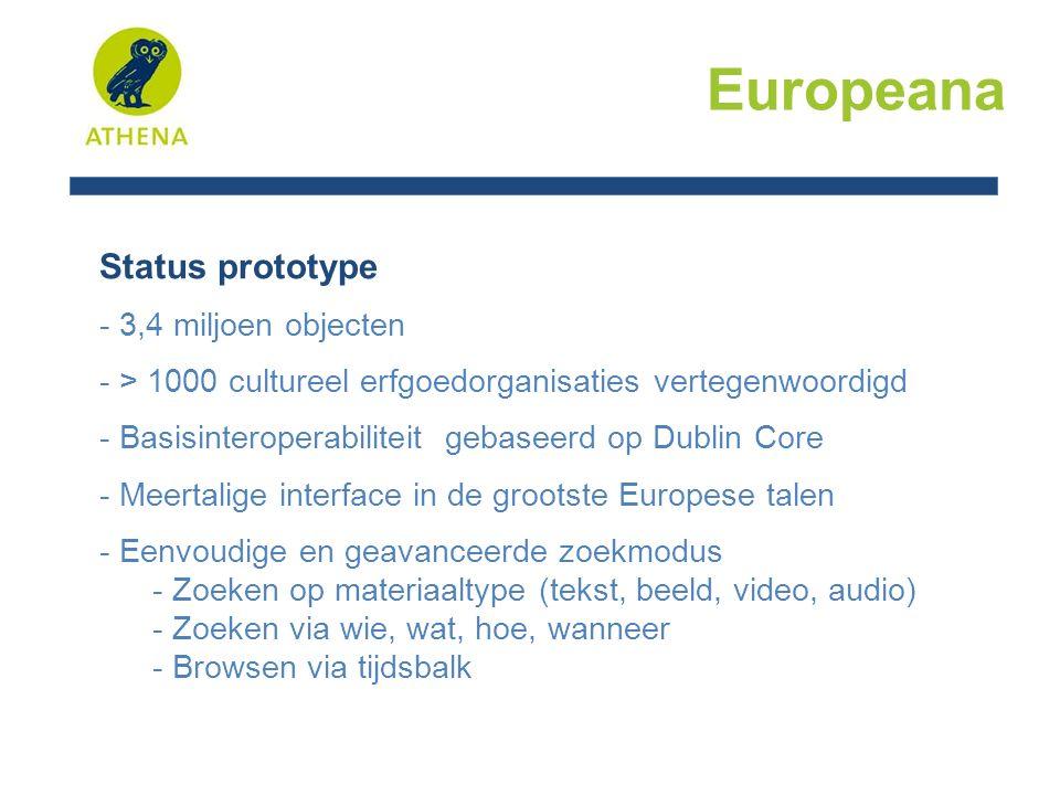 Europeana Dank voor uw aandacht