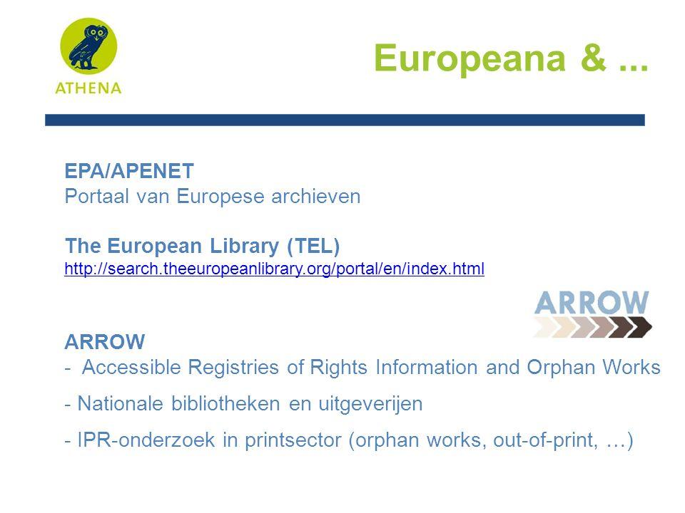 Europeana &...EuropeanaLocal - cf.