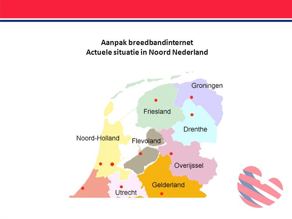 Aanpak breedbandinternet Actuele situatie in Noord Nederland