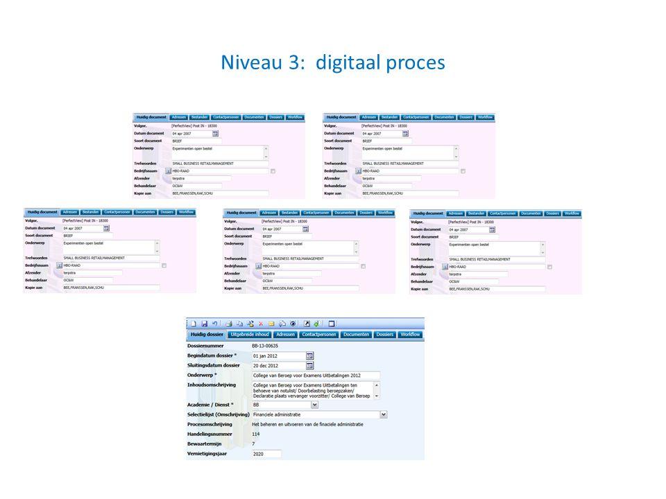 Niveau 3: digitaal proces