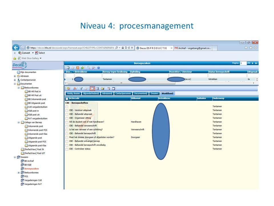 Niveau 4: procesmanagement