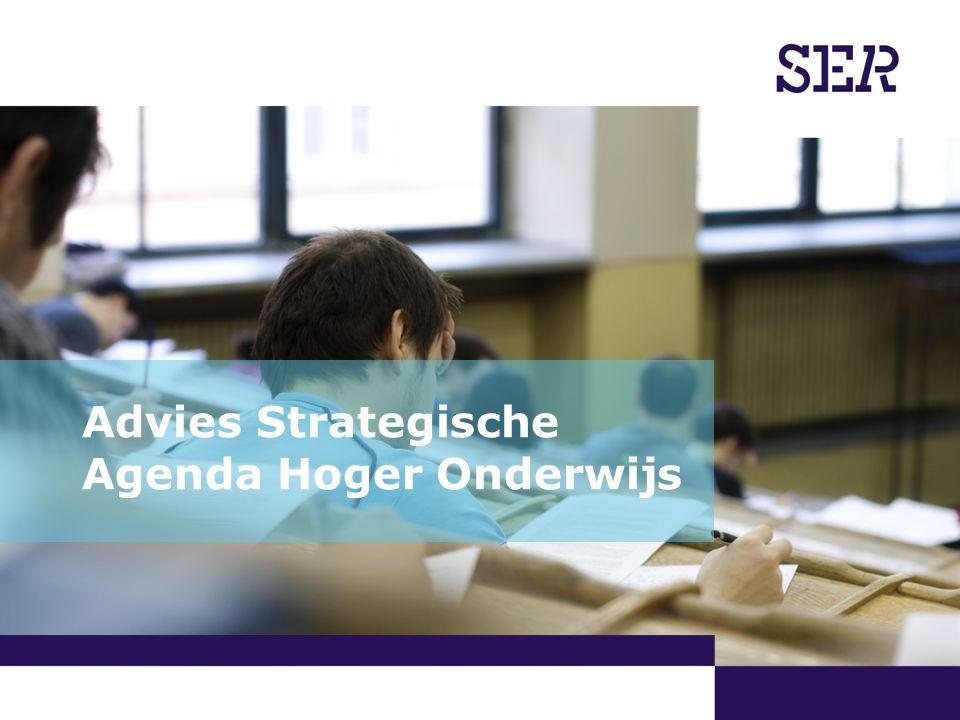 07-09-2011  Alexander Rinnooy Kan   Advies Strategische Agenda Hoger Onderwijs Aanleiding  Staatssecretaris Zijlstra van OCW vraagt SER advies op 9 maart 2011.
