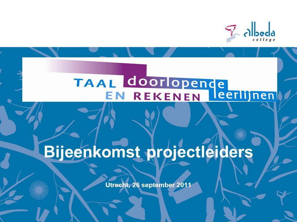 Bijeenkomst projectleiders Utrecht, 26 september 2011
