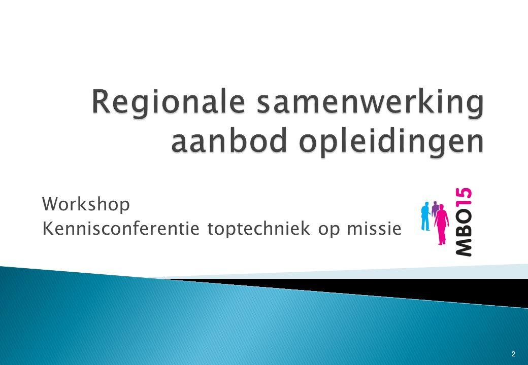 Workshop Kennisconferentie toptechniek op missie 2