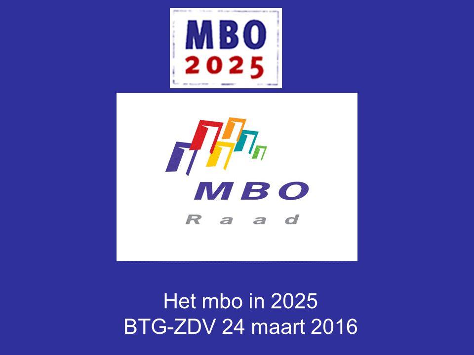 Het mbo in 2025 BTG-ZDV 24 maart 2016